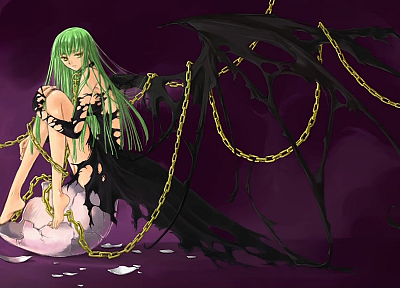 wings, Code Geass, C.C. - desktop wallpaper