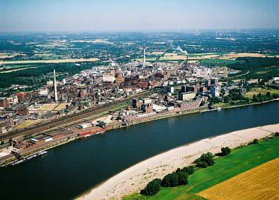 Germany, industrial plants, rivers - random desktop wallpaper