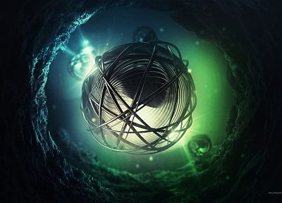 abstract, digital art, 3D, abyss, lacza - related desktop wallpaper