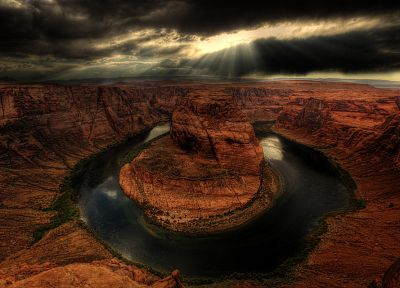 landscapes, nature, horseshoe bend, HDR photography - random desktop wallpaper