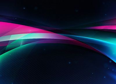 abstract, multicolor, waves, design - random desktop wallpaper