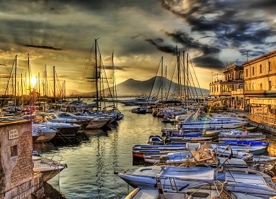 ocean, sail, dock, ships, boats, vehicles, HDR photography - desktop wallpaper