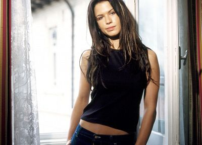 brunettes, women, actress, Rhona Mitra - related desktop wallpaper