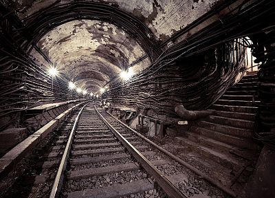metro, subway, railroad tracks, Moscow - random desktop wallpaper