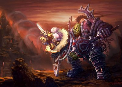 World of Warcraft, funny, shield, warriors, gnome, orc, ZoeZong - random desktop wallpaper