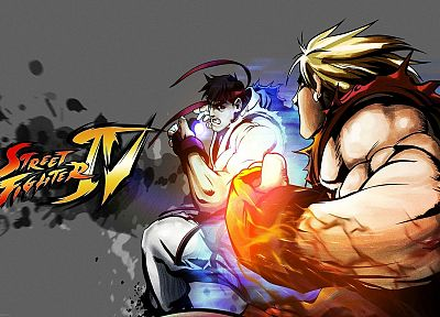 Street Fighter, Ryu, Ken - random desktop wallpaper