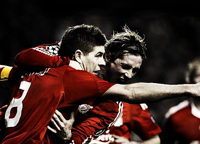 sports, soccer, Liverpool FC, Steven Gerrard, Fernando Torres - related desktop wallpaper