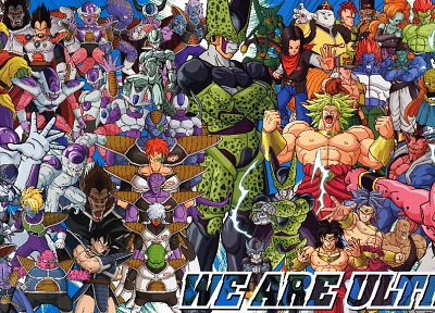 Vegeta, Cell, Frieza, perfect cell, Dragon Ball Z, Broly, Majin Buu, Super Saiyan, Zarbon, Imperfect Cell, Cooler, King Vegeta - desktop wallpaper