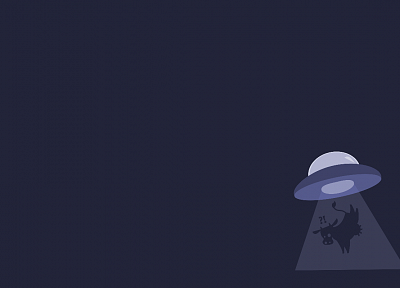 minimalistic, gentoo, cows, UFO, Abduction, Alien - related desktop wallpaper