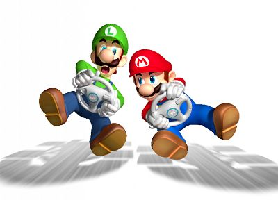 Mario Bros, Mario Kart - random desktop wallpaper