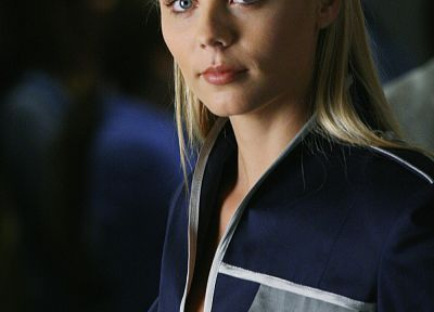 blondes, women, blue eyes, Laura Vandervoort - related desktop wallpaper
