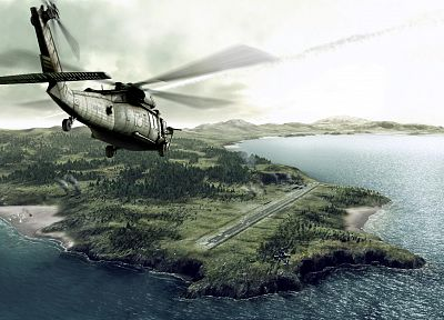 aircraft, military, helicopters, vehicles, UH-60 Black Hawk, sea - random desktop wallpaper