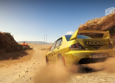 vehicles, Mitsubishi Lancer Evolution, Dirt 2, Dirt video game - related desktop wallpaper
