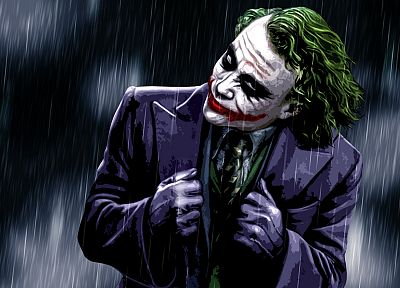 rain, The Joker - random desktop wallpaper