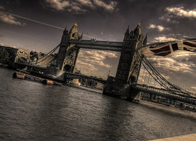 tower, architecture, London, bridges, Tower Bridge - desktop wallpaper