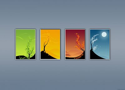abstract, winter, autumn, seasons, summer, spring - desktop wallpaper