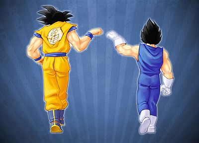 blue, Vegeta, Son Goku, Goku, Dragon Ball Z - desktop wallpaper