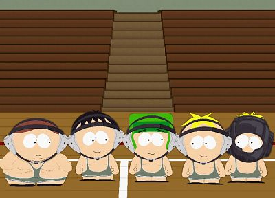 South Park, wrestling, Eric Cartman, Stan Marsh, Kenny McCormick, Kyle Broflovski, Butters Stotch - related desktop wallpaper