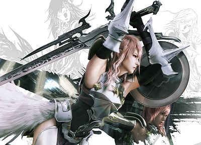 Final Fantasy, video games, wings, armor, swords - random desktop wallpaper