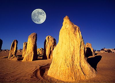 deserts, Moon, rocks, Australia - random desktop wallpaper