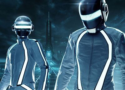 Daft Punk, Tron - random desktop wallpaper
