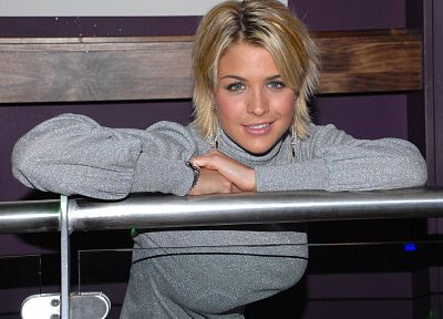 blondes, women, Gemma Atkinson, sweaters - desktop wallpaper