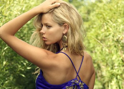 blondes, women, models, outdoors, South African, Danielle Knudson - desktop wallpaper