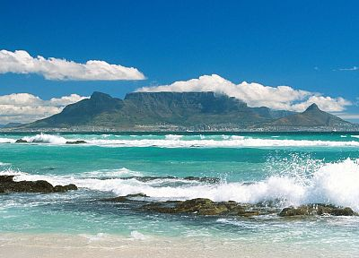 South Africa, Africa, Cape Town, Table Mountain - random desktop wallpaper