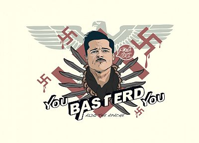 apache, white, swastika, Inglorious Basterds - random desktop wallpaper