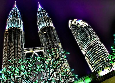 cityscapes, architecture, skyscrapers, Malaysia, HDR photography, Petronas Towers - desktop wallpaper