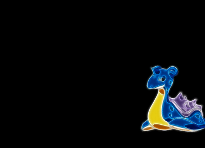 Pokemon, Fractalius, Lapras, simple background, black background - related desktop wallpaper