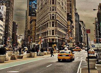 cityscapes, yellow, buildings, New York City, Fuller Building - random desktop wallpaper