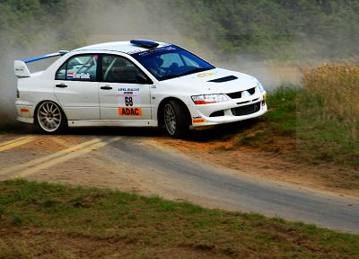 cars, rally, vehicles, Mitsubishi Lancer - random desktop wallpaper