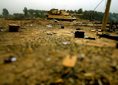 tilt-shift, M1A1 Abrams MBT - random desktop wallpaper