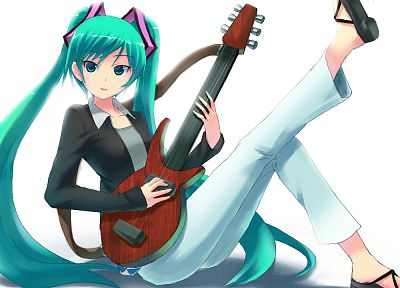 Vocaloid, Hatsune Miku, guitars, anime girls - random desktop wallpaper