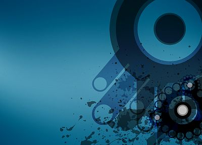 abstract, circles, splatters - random desktop wallpaper