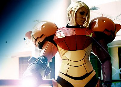 Metroid, cosplay, Samus Aran, varia - random desktop wallpaper