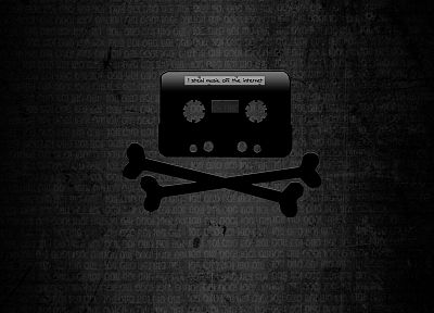 cassette, The Pirate Bay, piracy, skull and crossbones - related desktop wallpaper
