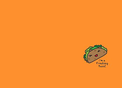 orange, food, tacos - desktop wallpaper