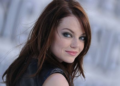 women, actress, redheads, Emma Stone, Imperfect Cell - desktop wallpaper