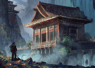 landscapes, DeviantART, fantasy art, Uncharted, artwork - random desktop wallpaper