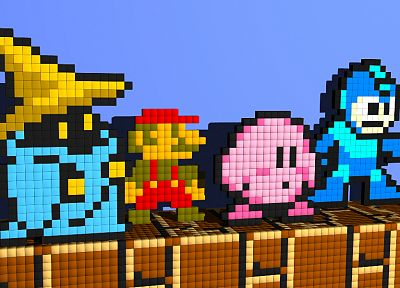 Kirby, Mario, Mega Man, Vivi (Final Fantasy IX) - related desktop wallpaper