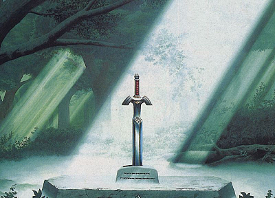 The Legend of Zelda, master sword - desktop wallpaper