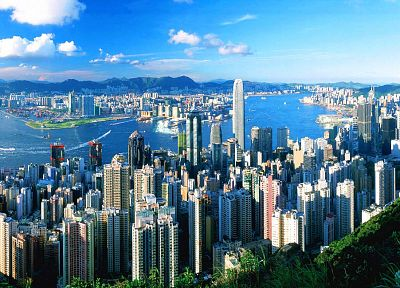 Hong Kong, city skyline, cities - random desktop wallpaper