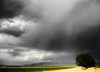 landscapes, nature, rain, storm, lightning - desktop wallpaper