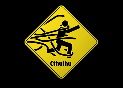 signs, Cthulhu, funny, wrong - desktop wallpaper
