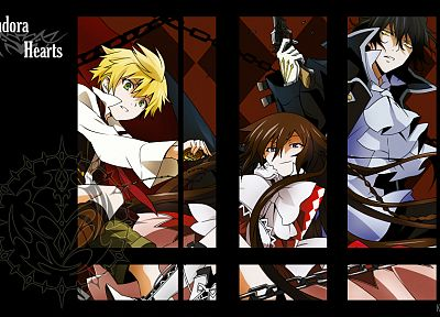 Pandora Hearts, Gilbert Nightray, Oz Vessalius, Alice (Pandora Hearts) - random desktop wallpaper