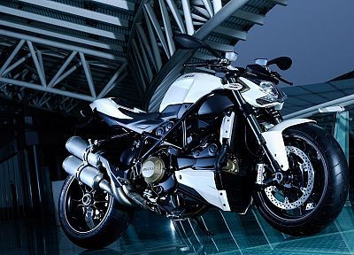 blue, sports, Ducati, vehicles, motorbikes, Ducati Streetfighter - random desktop wallpaper