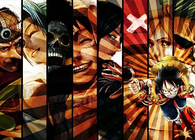 Robin, One Piece (anime), Nico Robin, pirates, Roronoa Zoro, Franky (One Piece), Brook (One Piece), Monkey D Luffy, Nami (One Piece), Usopp, Sanji (One Piece) - desktop wallpaper