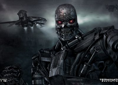 robot, movies, mecha, Terminator Salvation - related desktop wallpaper
